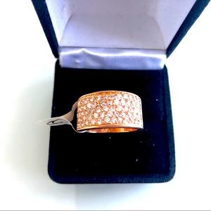 Fashion jewelry rose gold ring size 5